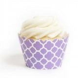 Lavender Spanish Tile Cupcake Wrappers (12)
