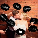 Chalkboard Photo Booth Props Labels, 10-pack