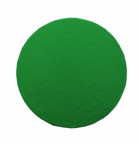 """Cake Drum Round Green Foil, 10"""" x 1/2 Inches"""
