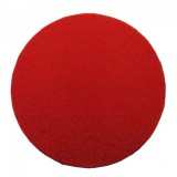 "Cake Drum Round Red Foil, 12"" x 1/2 Inches"