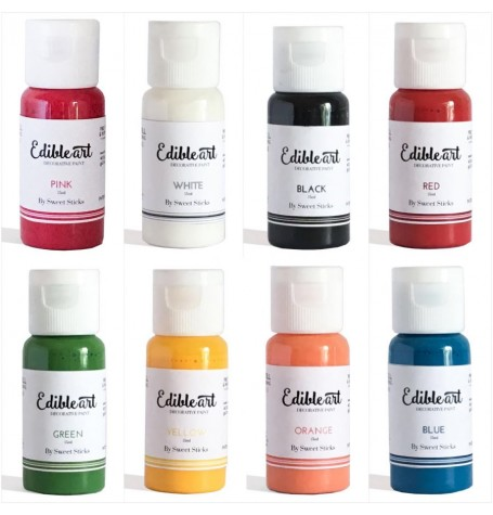 Edible Art Decorative Paint Primary 8 Pack - 15ml