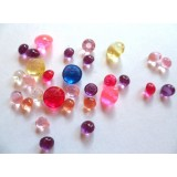 Edible Sugar Diamonds Assorted Colors (0.6 cm)