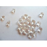 Edible Sugar Diamonds Clear (0.6cm)