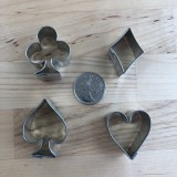 Playing Card Suits Cutters Mini (4 cutters)