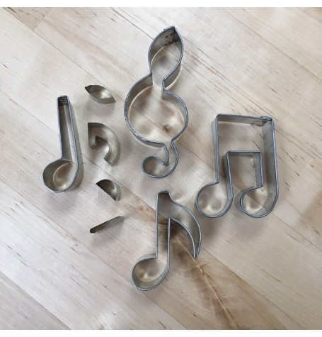 Mini Musical Notes Cutters (2 inches)