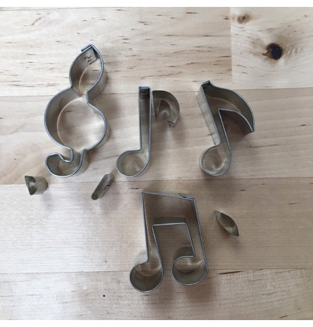 Mini Musical Notes Cutters (1 inch)