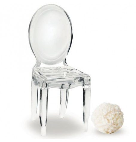 Miniature Clear Acrylic Ghost Chairs (8) In stock