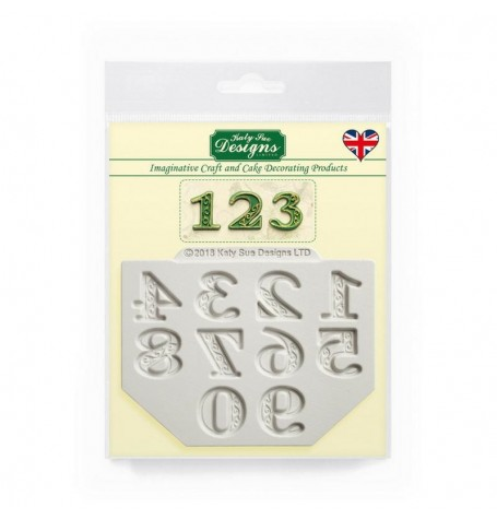 Manuscript Numbers Silicone Mold