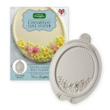 Petite Fleur Oval Plaque Silicone Mold