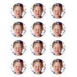 "Lucks Edible Image Print-Ons Sheets 2"" Rounds"