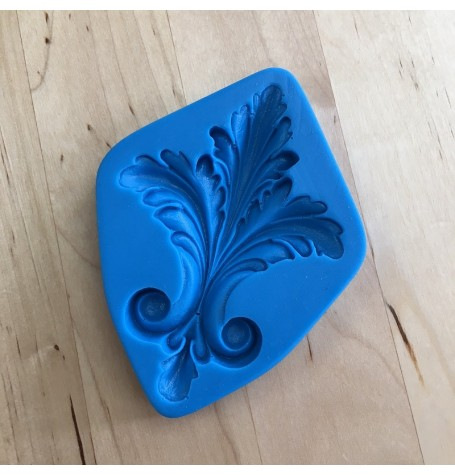 Silicone mold for a Leaf Flourish