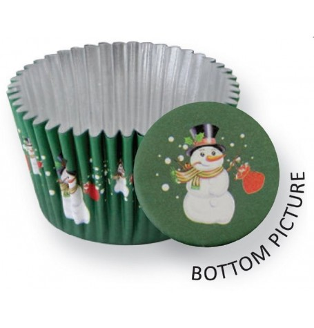 Foil Lined Fun Snowman Deep Baking cups (Quantity 30)