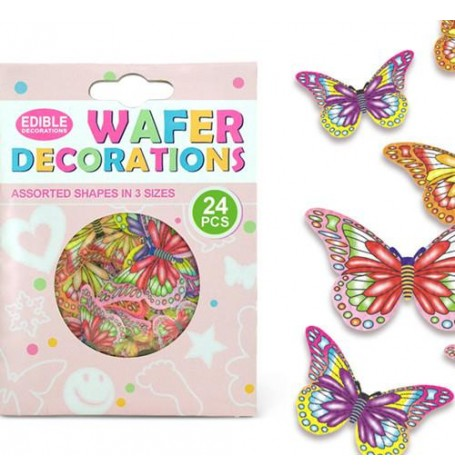 Wafer Paper Edible Precut Butterflies Mariposas (24 Pieces)