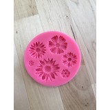 Assorted Flowers Silicone Mold
