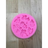 Baby items Silicone Mold (feet and carriage)