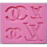 Logo Icons Silicone Mold (Chanel and Louis Vuitton)