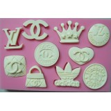 Logo Icons Silicone Mold (Chanel, Louis Vuitton, Adidas, Starbucks)