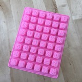 Silicone Mold for letters & numbers blocks
