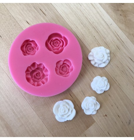 4 Rose Silicone Mold