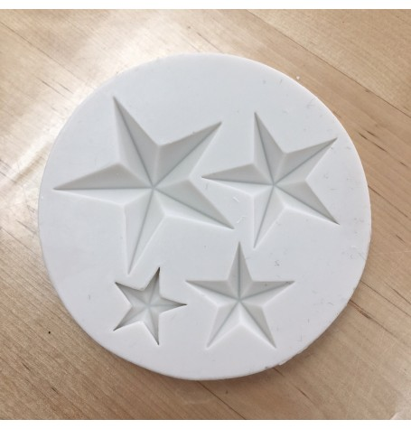 3D Stars Silicone Mold