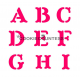 Monogram Collection Block Alphabet Stencil