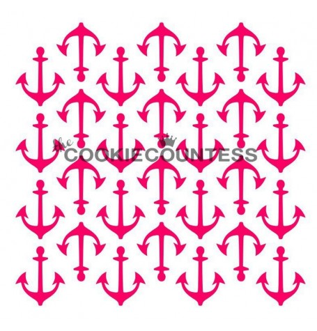 Anchors Background Stencil