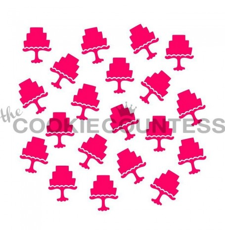 Scattered Cakes Stencil