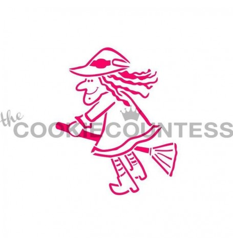 Drawn with character -  Witch On a Broom PYO