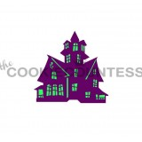 2 piece Haunted / Christmas House stencil