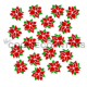 Poinsettia set stencil 2 piece