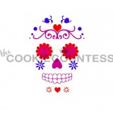 3 Piece Sugar Skull set Stencil