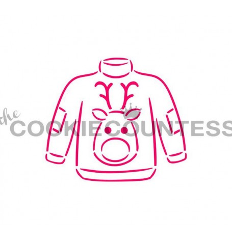 Drawn with character - Ugly Sweater Stencil PYO