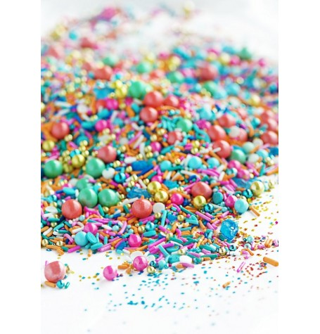 CORAL REEF Twinkle Sprinkle Medley from Sweetapolita 4oz Bottle (1/2 cup/NET WT 3.5oz/100g)