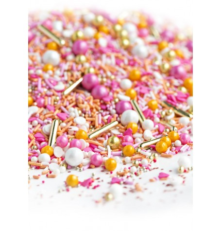PRETTY AS A PEACH Twinkle Sprinkle Medley from Sweetapolita 4oz Bottle (1/2 cup/NET WT 3.5oz/100g)