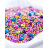 PINATA Sprinkle Medley from Sweetapolita 4oz Bottle (1/2 cup/NET WT 3.5oz/100g)  Gluten-Free & Vegan