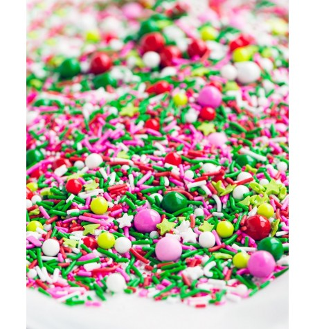 WHOVILLE CHRISTMAS Sprinkle Medley from Sweetapolita 8oz Bottle (1 cup/NET WT 7oz/200g) Gluten-Free