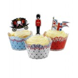 British Cupcake wraps and Toppers