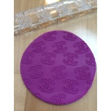 Fondant Impression Rolling Pin Chanel Texture Small