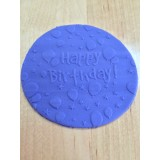 Fondant Impression Rolling Pin Happy Birthday Texture Small