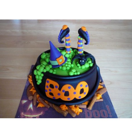 Halloween Parent-child Cauldron cake class - October 22nd 2017 9AM to Noon with Nancy Brisson