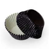 Foil Bake Cups Black (Quantity 32) Shiny finish