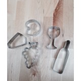 Wine & Cheese Cookie Cutter Set