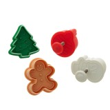 Christmas cutter and plunger (4pc)