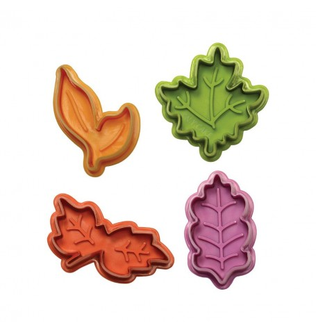 Leaves Fondant and Pie Cutter Plunger Set (4 pc)
