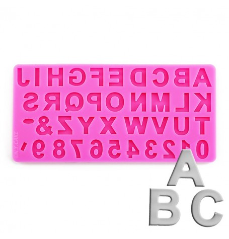 Uppercase Alphabet and Numbers Silicone Mold