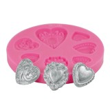 Heart Buttons Silicone Mold
