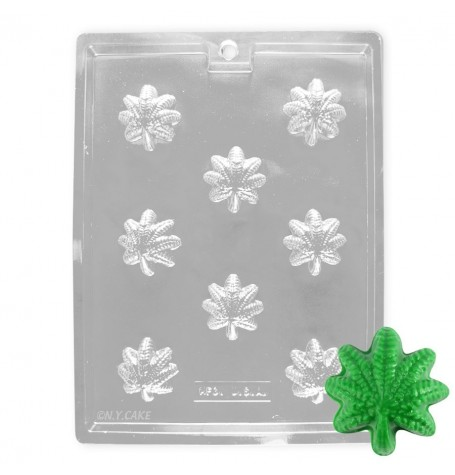 Marijuana Cannabis Leaf Chocolate Mold