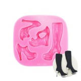 Girly Assorted High Heel Shoes and Boots Silicone Fondant Mold