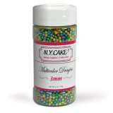 Sugar Pearls 3mm Multicolor Dragees