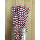 Paper Straws - Stripes Barber Shop